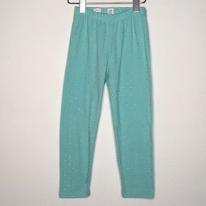 GapKids Turquoise Cropped Leggings w/Dots XL